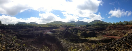 Lemptégy volcano, the field site for my thesis research