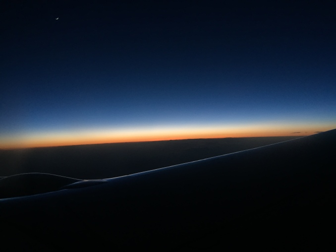 Endless sunset over the US