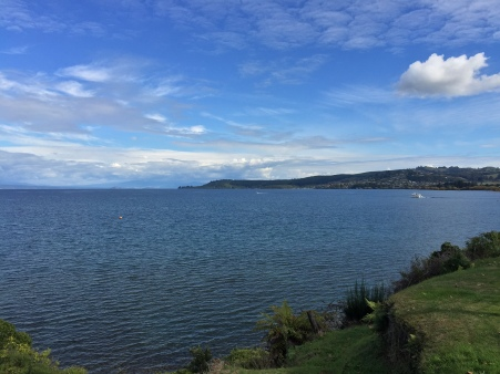 First view of Lake Taupo