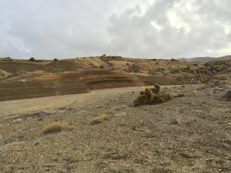 Pretty barren, but to a geologist it's a gorgeous landscape