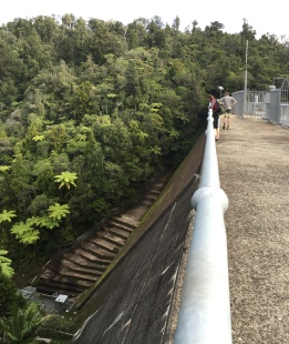A look down the other side of the dam