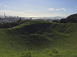 Awesome crater at the top of Mt. Eden