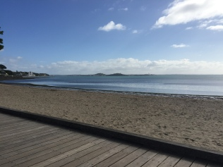 The beach in St. Heliers