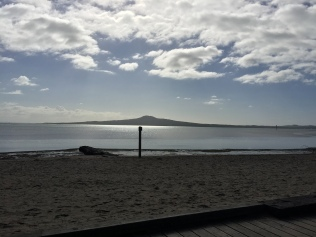 Rangitoto, a volcanic island in the bay