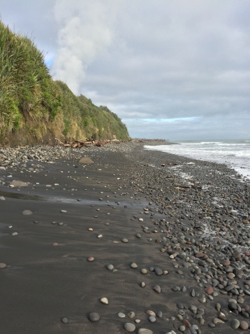 Most of the beaches around here have lovely black sand