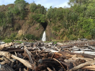 This one had a lot of broken up wood and a nice waterfall