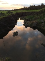 A good strategy for finding outcrops is to find where farmers have dug big holes on their property