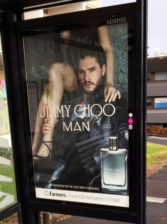 Jon Snow tries to sell me shoes (or cologne?) every day on my way to work