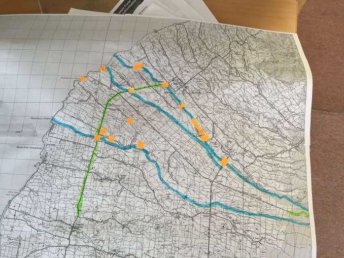 Planning the next trip on my homemade map