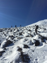 And it got steeper and snowier and steeper and snowier...