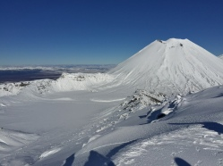 Red Crater below, Ngauruhoe above