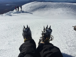 That's what crampons on your boots look like