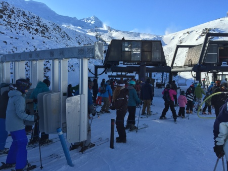 Look at all those lazy skiers taking the lifts! Pssht!