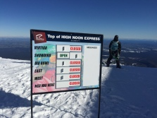 The end of the line--top of the highest lift