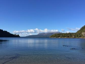 View across Blue Lake