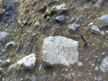 See how the rocks are really angular? That's something worth noting.