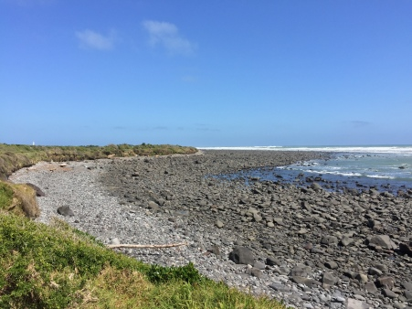 A lot of Taranaki beaches are pretty rocky