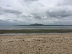 Rangitoto from the beach at St. Helliers