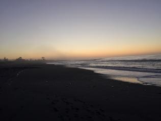 Foggy sunset