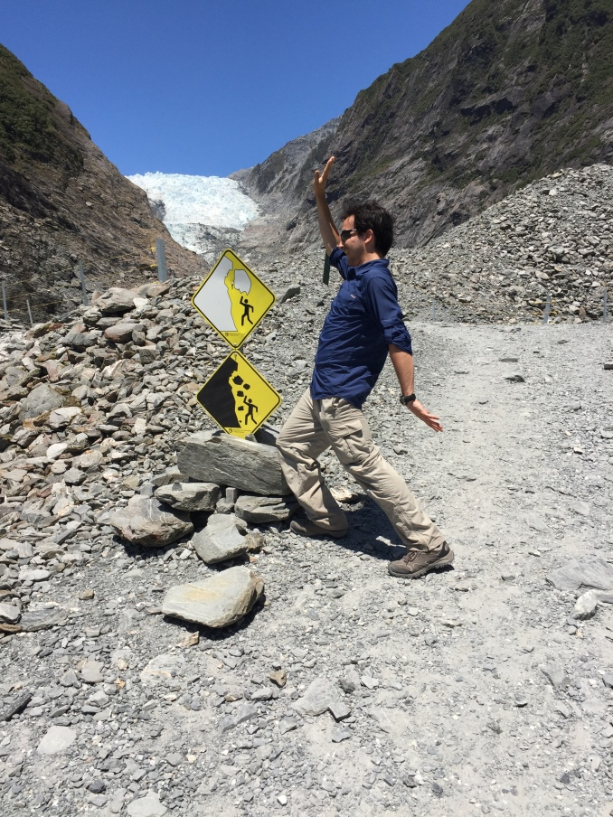 Having some fun with silly caution signs. Punch the white rocks! Punch the black rocks too!