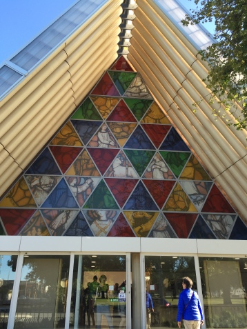 "The ""Cardboard Cathedral"", named for its construction, built to be a quick replacement."