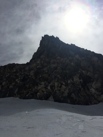 The Shark's Tooth, another major feature near the summit.