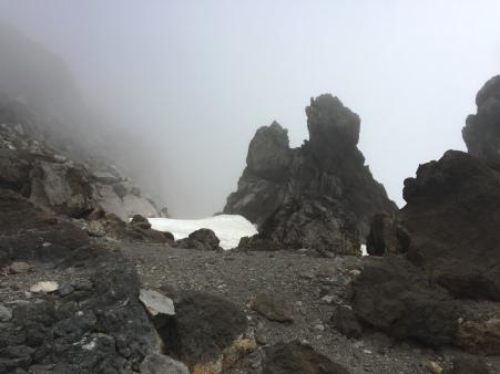 Pretty interesting landscape inside the fog...