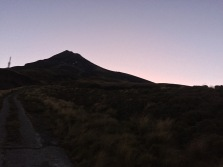 The lonely mountain in twilight.