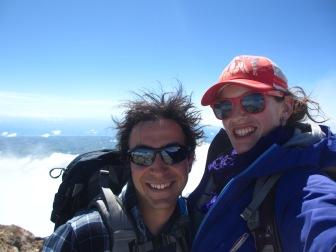 Crazy hair volcano selfie!