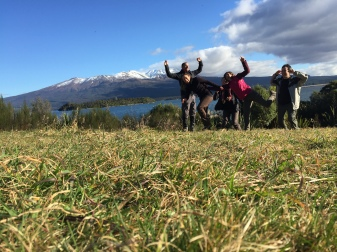 Jumping photos are pretty hard. (That's Tongariro in the background.)