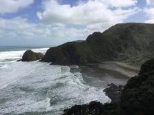 Cliffs and beaches along Auckland's west coast near Piha