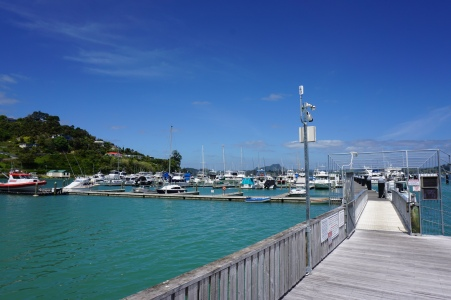 The marina in Whangaroa