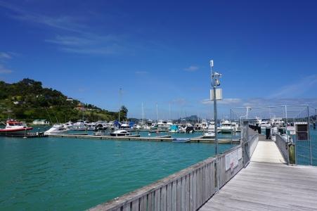 The marina in Whangaroa
