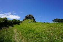 A little rock on a hill?