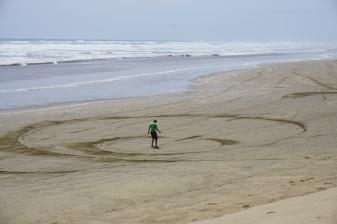A bit of sand art.