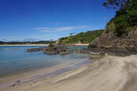 The beach at Matapouri