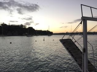 The harbor in Port Vila