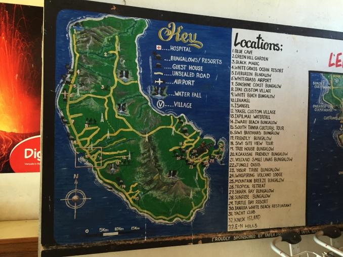 Map of Tanna island.