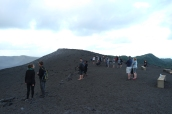 See all the tourists? That's one of the reasons learning about the hazards at Yasur is so important.