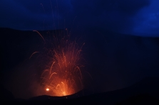 It never had a full eruption like the one to the right, but gas flare would come out of it, which was cool.