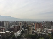 View over Santiago from up on the cerro.