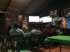 ...and got to watch a Chile/Uruguay football match with some locals.