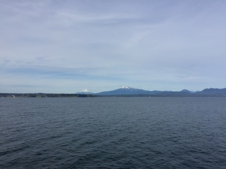 Looking at Calbuco and Osorno volcanoes from the ferry...we'll get to those later.