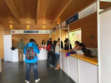 Registration desk, where you get your program and other goodies.