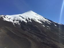Osorno is a skifield in the winter.