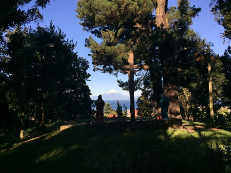 Monte Calvario, a little park in PV with good views of the volcano. In this case, looking at Osorno was literally a religious experience!