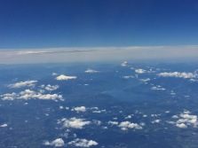 So many volcanoes to see out the window on the plane flight back to Santiago!